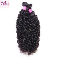 Peruvian Indian Malaysian Brazilian Virgin Hair Weave Bundles Water Wave Human Hair Extensions 3pc lot Natural Black