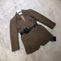 21SS Женская куртка вниз Parkas Лонг-Пальто зимний стиль с поясом Corset Lady Slim Мода Куртки насыщенные теплые пальто S-L