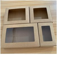 24pcs Multi Size Soap Kraft Paper Gift Box Package With Clear Pvc Window Candy Favors Arts&krafts Display K jllWYh ERW2