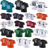 16 Trevor Lawrence 1 Zach Wilson Justin Felder Jersey 5 Trey Lance Ja'Marr Chase Football 2021