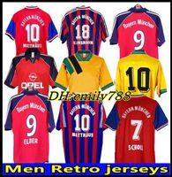 91 92 93 94 95 96 97 98 99 Retro Jersey 00 01 02 Santa Cruz Daei Papin Elber Zickle Lizarazu Effenberg Scholl Matthaus Klinsmann Bayern Football Shirts Maradona München