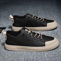 Bahar erkek ayakkabı Kore versiyonu çok yönlü rahat moda trend Martin çizmeler ve tahta 2021 deri
