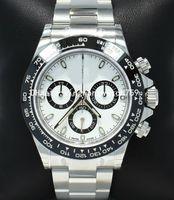 Luxury DJ New Factory 2813 Movimento automatico 116500LN No Chrono Oyster Panda Panda Cornice in ceramica Casella di orologio Carta da 40mm Guarda gli orologi da uomo