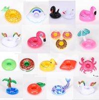 Надувные фламинго напитки чашки держатель бассейна поплавки барных приставок плавучие устройства детская ванна игрушка маленький размер HWB9252