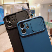 Camera Lens Protection Liquid Silicone Case For iPhone 11 12 Pro Max 8 7 6 6s Plus Xr Xs Max X 13 12 sliding window Phone Cover