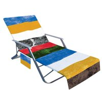 Pool & Accessories Microfiber Sun Lounger Towel Cover With Pockets Beach Chair Side 210*75cm