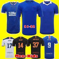 Глазго Рейнджерс Чемпионы 55 Версия Футбол Футбол 2021 Дефоре Morelos Kent Aribo Arfield 20 21 22 Мужчины Детские наборы Футбол Джерси