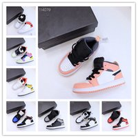 High top 1s Sports Sneakers Kids Red black and white Basketball Shoes 22-37 obsidian ash Multi-Color Running Outdoor Trainers