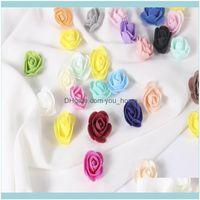 Dekoratif Çiçekler Çelenkler Şenlikli Parti Malzemeleri Garden3.5 cm Mini Gül Çiçek Kafaları Teddy Bear Yapay Köpük 500 adet / torba DIY Çelenk CA