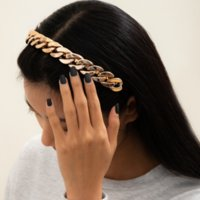 Bandeau de la bande de la chaîne CCB Simples bandes de poils en or Cerceau Fermoir pour femme Filles Mode Bijoux sera et sableux