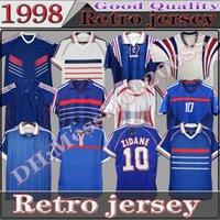 1998 النسخة الرجعية فرنسا Soccer Jersey 84 96 98 02 04 06 2010 زيدان هنري مايوه دي القدم قميص كرة القدم 2000 الصفحة الرئيسية Trezeguet موحدة