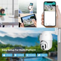 Cameras 3MP Wifi Camera PTZ Outdoor PIR Human Detection Two Way Audio Wireless Color Night Vision CCTV Battery Security