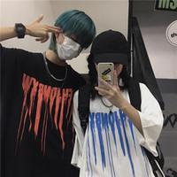 Women's T-Shirt Women Summer Vintage Harajuku Punk Casual Hip Hop Short Sleeve Gothic Tops Tees Regular Print Drop Bar Black Ins