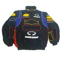 2020 F1 Traje de carreras, estilo universitario, fanáticos europeos y americanos, chaqueta casual, chaqueta de algodón, chaqueta de invierno bordada completa