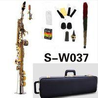 جودة عالية اليابان Yanagisawa S-W037 ب شقة سوبرانو ساكسفون الآلات الموسيقية النحاس النيكل مطلي مع حالة المهنية