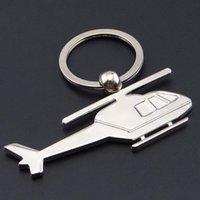 2D Hélicoptère modèle Keychain Cadeau Creative Cadeaux Petit pendentif d'aéronefs peut être laser