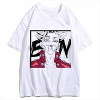 I sette peccati mortali Meliodas uomo Top da donna Anime Stampa Fashion Harajuku Ban Tshirts Homme Bianco JanPanese