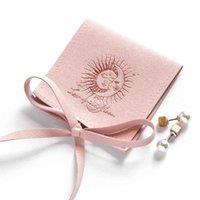 50 pcs malotas de jóias personalizadas saco de envelope personalizado Chic Pequeno Embalagem de Microfiber Earings Bags Bulk