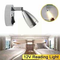 Parts 12V White Light Indoor Reading RV Boat LED Mounted Motorhome Lighting Camper Trailer Bedside Wall 360°rotat Q7K4