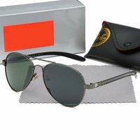 Luxus 2021 Marke Polarisierte Ray Männer Frauen Herren Womens Sonnenbrille Bans Designer UV400 Eyewear Sonnenbrille Metallrahmen Polaroidobjektiv