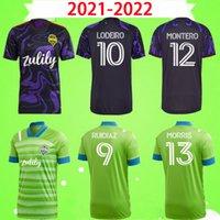 2021 2022 Seattle Sounders FC Home Away Soccer Jerseys MLS 21 22 Ruidiaz Morris Demgely Torres Football Hemden Roldan Montero Lodeeiro