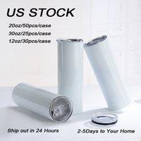 로컬 창고 Sublimationl Tumblers Sippy Cup Marson Jar UV 컬러 변경 Dark 14 종류의 모든 스트레이트 새로운 도착 US 주식 !!