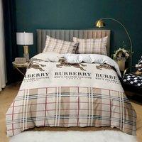 Роскошный дизайн писем печатная спальня постельное белье, многоразмерный мягкий и удобный классический узор, подходит для семьи / друзей / детей