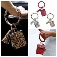 Bracelet Holder Bag Card Credit Party Keychain Wristlet Keyring Handbag Bangle Leopard 260O Favor Tassel Wallet With RRA3 Ginaw