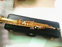 ياناجيساوا مستقيم سوبرانو ساكسفون S-901 II الآلات الموسيقية ب شقة النحاس الذهب ورنيش وصول ساكس / ساكسفون صنع في اليابان