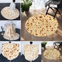 Beddingoutlet Burrito Mexican Burrito Couvertures de tortilla de maïs 3D Couvertures de flanille pour lit en molleton Jetez des couvre-lits en peluche drôles Seaway GWF10423