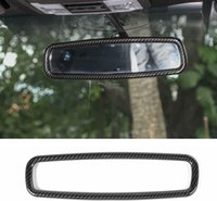 Carbon Fiber Inner Rearview Mirror Ring Decoration Trim For Ford F150 09+  Mustang 2009-2013 15+