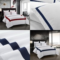Conjunto de roupa de cama Geometric Kitding Set Stitching COLORTER CONDUTER cama de cama de casal conjuntos nórdico estilo 1289 v2