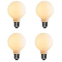 Liiiartman 6W LED ضوء لمبة G95، E27 قاعدة مات أوبال دافئ أبيض 2500K CRI95 420LM، 50W مكافئ اديسون لمبة (4-pack)