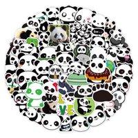 50 lindo panda dibujos animados graffiti pegatinas cuaderno tronco coche impermeable