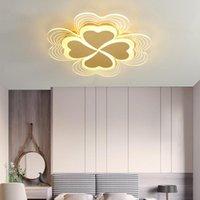 Tavan Işıkları FKL Nordic Altın / Beyaz Lamba Akrilik Kalp Şeklinde LED Modern Sıcak Çocuk Odası Yatak Odası