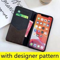 Tasarımcı moda cüzdan telefon kılıfları iphone 13 13pro 12 12pro max 11pro xs xr xsma en kaliteli deri kart tutucu sticker lüks cep telefonu kapak
