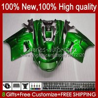 Corpo per Kawasaki Ninja ZX-11 R ZZR-1100 ZX-11R ZX11R 90 91 92 93 94 95 30hc.10 Glossy Green ZZR 1100 cc ZX 11 R 11R ZX11 R ZZR1100 1996 1997 1998 1999 2000 2000 Kit carenatura 2000