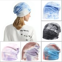 Women Girls Winter Hat Gradient Color Tie-Dye Ear Warm Beanies Caps Male Female Autumn Outdoor Beanie Hats New