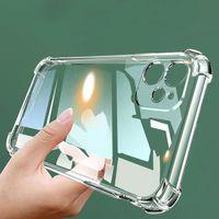 Capas de telefone híbrido de almofada de ar de choque transparente para iPhone 13 12 11 Pro Xs Max XR 8 7 6 Plus Samsung S21 S20 Note20 Ultra A72 A52 A32 A12 Redmi Huawei
