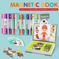 CoolPlay Crianças Inteligente Livro Magnético 3D Puzzles Jigsaw Cérebro Cérebro Jogo Brinquedos Educativos para Crianças GREST GREST GREST Xmas Brinquedo 210417