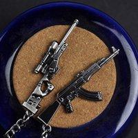 Jogos online por volta da linha de fogo AK47 Armas Pistola Submachine Gun Sniper CF Mini Model CAR Pingente