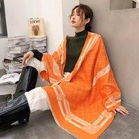 6 색 따뜻한 스카프 캐시미어 망 큰 스타일 숄 빈티지 최고 품질의 부드러운 패션 겨울 여성 디자인 부드러운 따뜻한 스카프 65 * 190cm