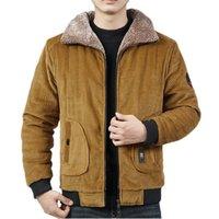 Jaquetas masculinas 2021 jaqueta de inverno homens algodão acolchoado aquecido solto parka casaco casual veludo macho marca roupas