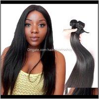 8A vizon uzantıları atkılar işlenmemiş brezilyalı insan ipeksi düz saç örgü demetleri 830 kadınlar için doğal renk insholes sr6fl 1oomh
