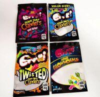 500mg Errlli Gummi Sharks edible packaging bag 600mg Sour Terp Crawlers smell proof bags warheads skittles Mylar ediblaging Hashtag