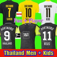 Haaland Reus Borussia 20 22 Dortmund Soccer Jersey 2021 Fan Player Camicie da calcio Bellingham Sancho Hummels Brandt Men + Kid Kit Maillot de Piede
