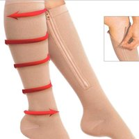 Спортивные носки 2021 Женщины Человек Фитнес Молния Сжатие Йога Зука Поддержка Zip Knee Sox Открытый Носок Stovepipe