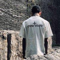 Stein ISL 2021 Frühling Sommer NEUE Back gedruckt Brief Rundhals Kurzarm Männer und Frauen Einfache vielseitige Baumwollt-shirt