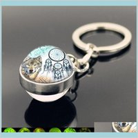 Rings Jewelryglass Ball Indians Dream Catcher Wolf Keychain Glow In The Dark Luminous Keyring Key Holders Fashion Jewelry Will And Sandy Dro
