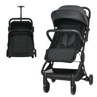 Tasarımcı Lüks Arabası BabyJoy Hafif Bebek Katlanabilir Seyahat Uçak Siyah BC10002BK Için